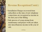 revenue recognition contd