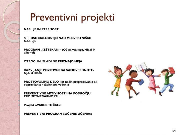 Preventivni projekti