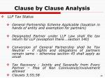 clause by clause analysis20