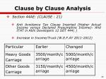 clause by clause analysis21