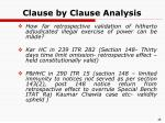 clause by clause analysis27