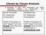 clause by clause analysis30
