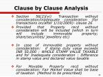 clause by clause analysis31