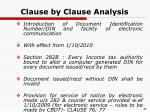 clause by clause analysis35