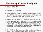 clause by clause analysis38