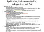 ap tridas indocumentados refugiados art 34