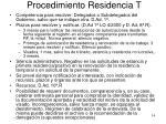 procedimiento residencia t