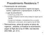 procedimiento residencia t1