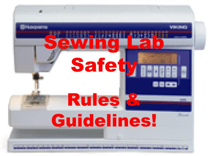 sewing lab safety n.
