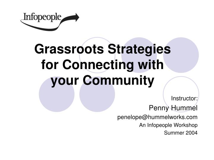 grassroots strategies for connecting with your community n.