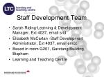 staff development team