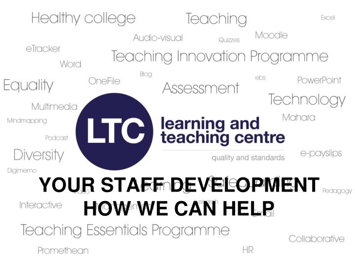 your staff development how we can help n.