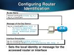 configuring router identification1