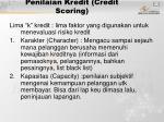 penilaian kredit credit scoring
