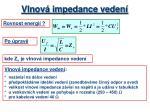 vlnov impedance veden1