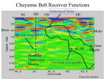 cheyenne belt receiver functions