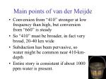 main points of van der meijde