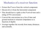 mechanics of a receiver function