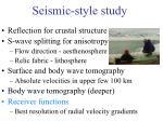 seismic style study