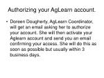 authorizing your aglearn account