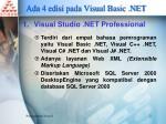 ada 4 edisi pada visual basic net