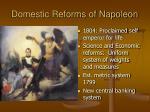 domestic reforms of napoleon