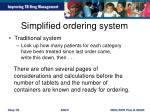 simplified ordering system