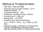 method of 3 h determination