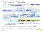 teachers and principals