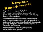 kompetencje komisji europejskiej