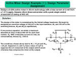 active mixer design example design parameter assignment