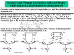 comparison voltage conversion gains of single balanced and double balanced active mixers