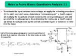 noise in active mixers quantitative analysis