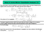 noise in active mixers quantitative analysis1