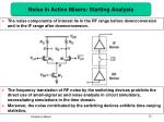 noise in active mixers starting analysis
