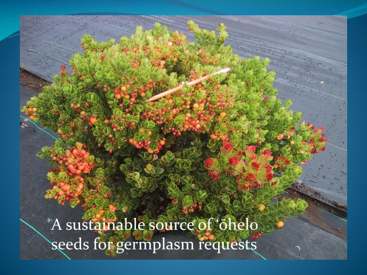 A sustainable source of '