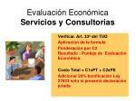 evaluaci n econ mica servicios y consultorias