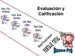 evaluaci n y calificaci n1