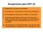 excepciones para gfc 2