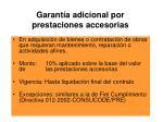garant a adicional por prestaciones accesorias