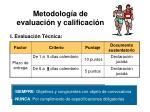 metodolog a de evaluaci n y calificaci n