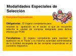 modalidades especiales de selecci n1