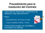 procedimiento para la resoluci n del contrato