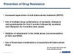 prevention of drug resistance