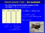 paired sample t test an example