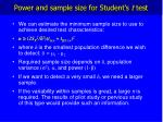 power and sample size for student s t test