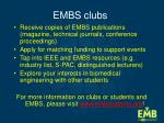 embs clubs