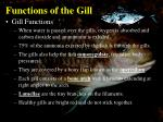 functions of the gill1
