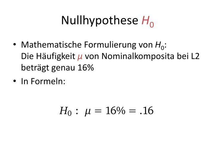 Nullhypothese