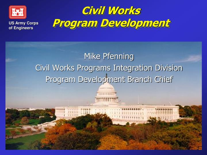 civil works program development n.